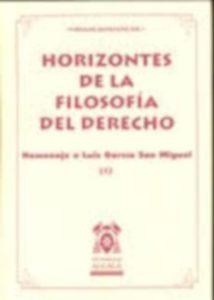 HORIZONTES DE LA FILOSOFÍA DEL DERECHO